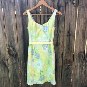 Lily Pulitzer Lime Sheath Dress Sz 2